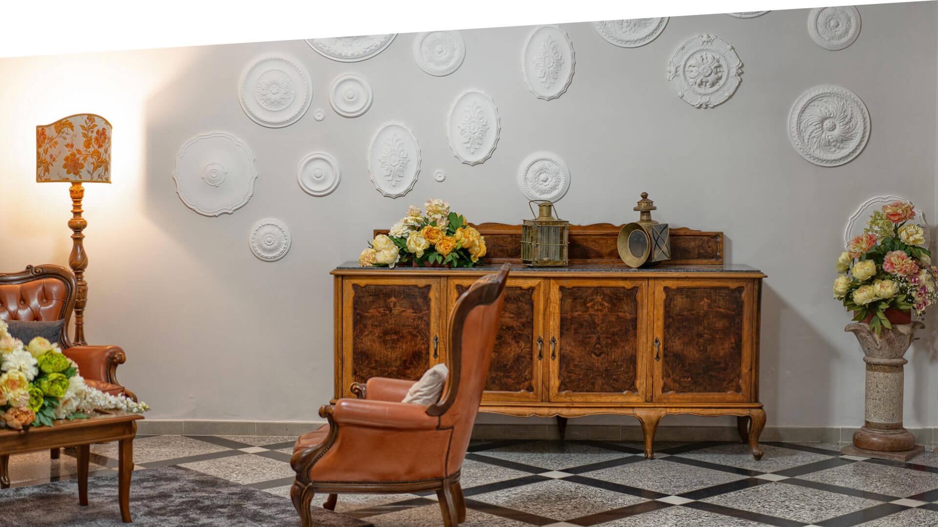 La sala di villa Camelia